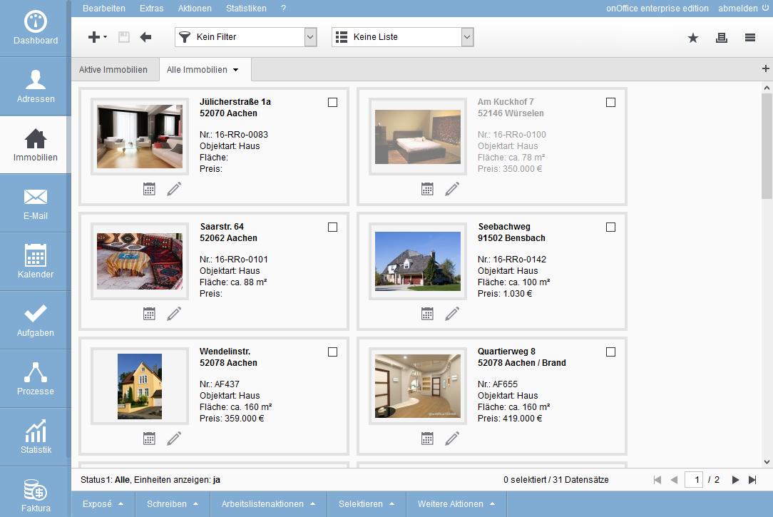 property management tile view