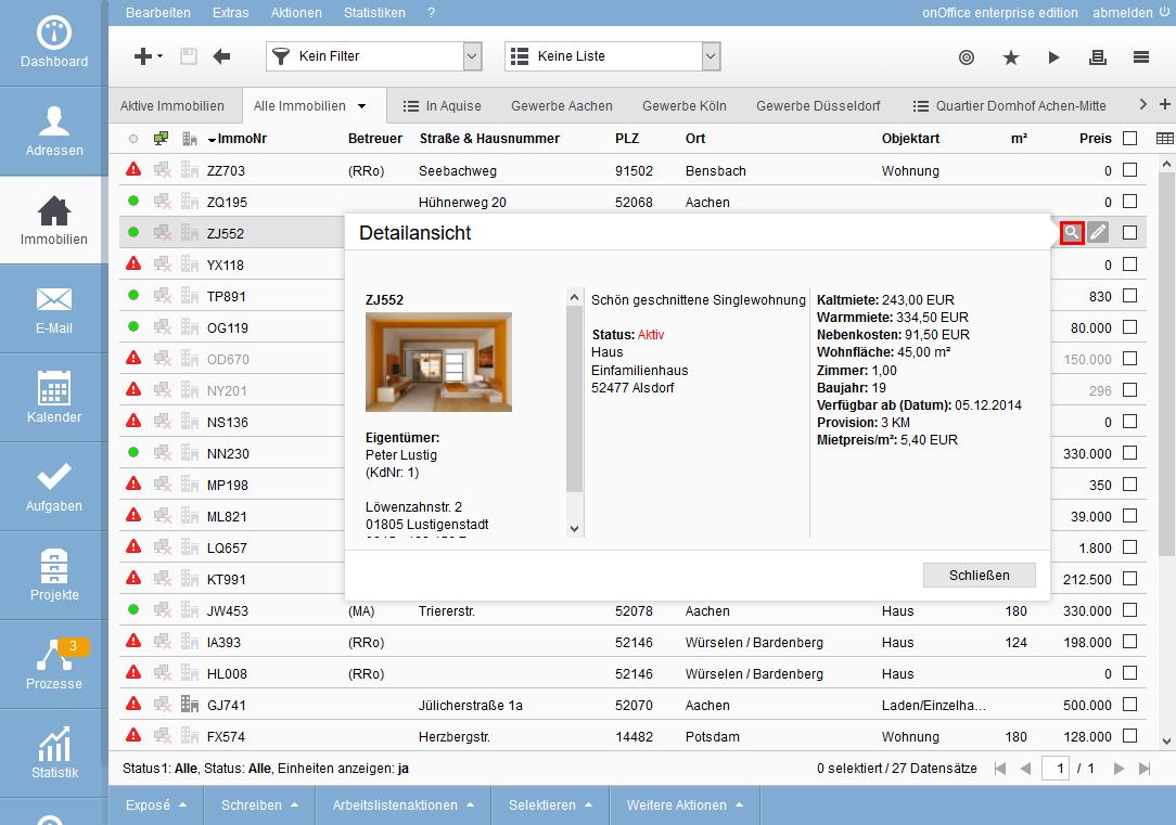 Property List View Magnifier