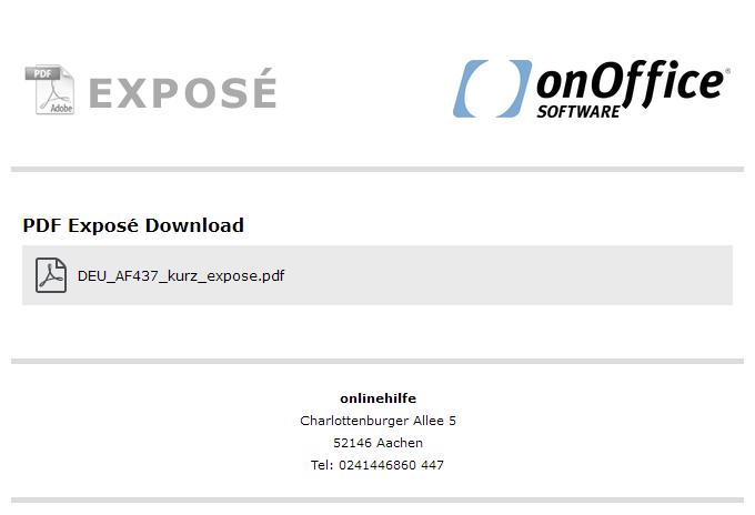 Download eines Exposés nach AGB bestätigen