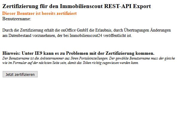 Zertifizierung IS24