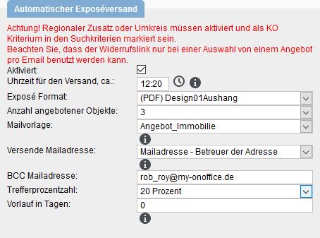 Enable automatic brochure dispatch