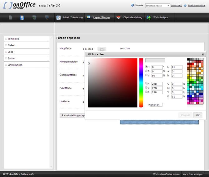 smart site Farben Farbquadrat